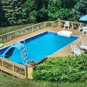 Rectangle Above Ground Pool what is an aqua star deck pool? - aquastar