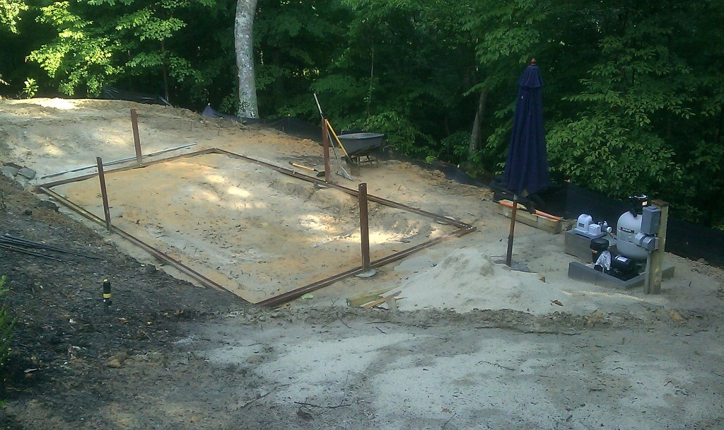 Base of Above Ground Pool Project