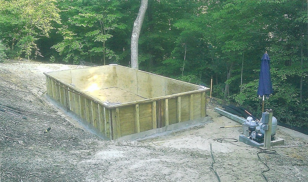 Framework of Above Ground Pool Project