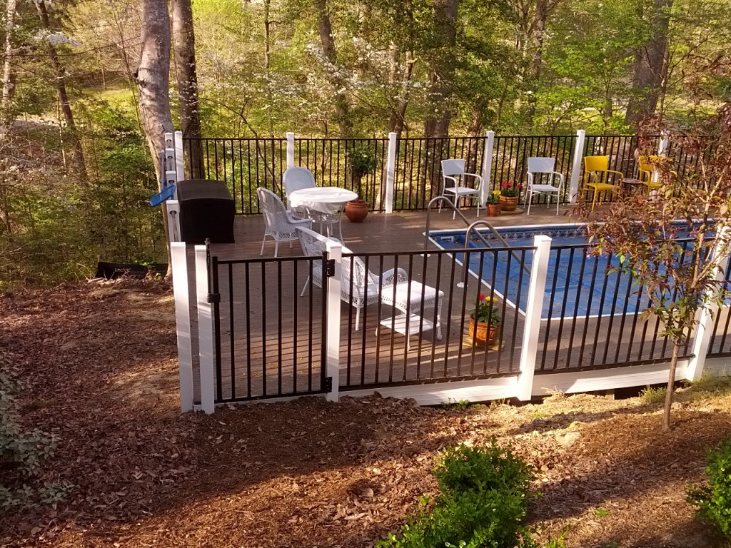 Completed Above Ground Pool Project
