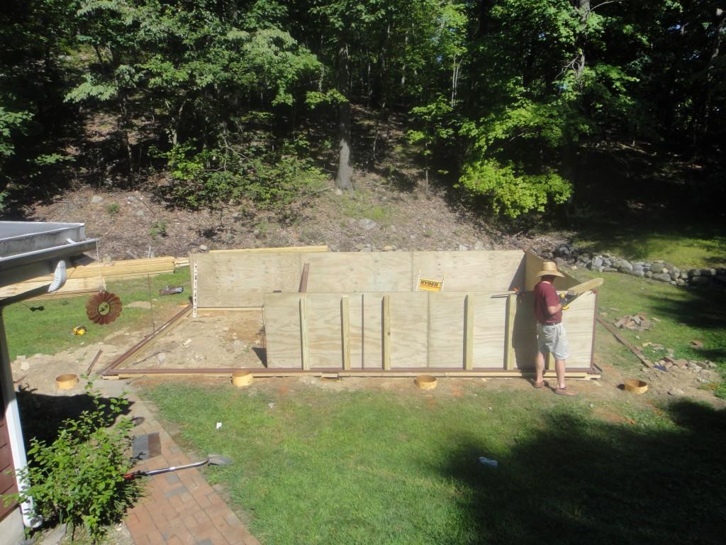 Enclosed Above Ground Pool framework