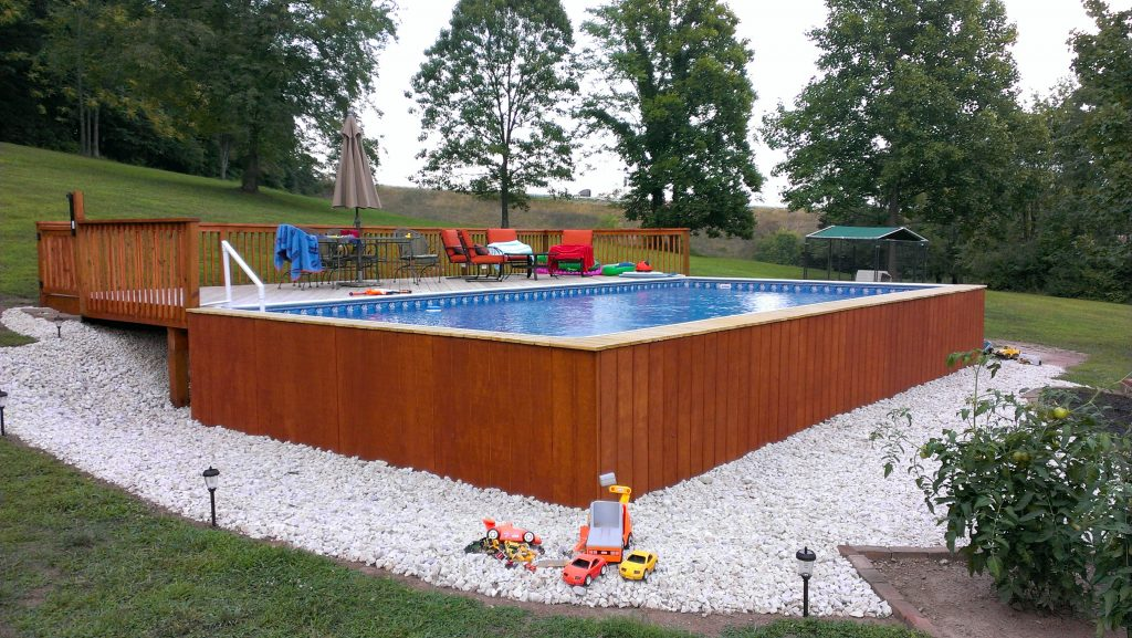 Concrete base Above Ground Swimming Pool Project