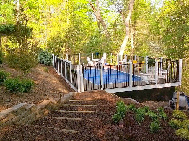 Above Ground Pool Project Landscaping